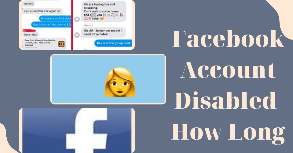 Facebook Account Disabled How Long